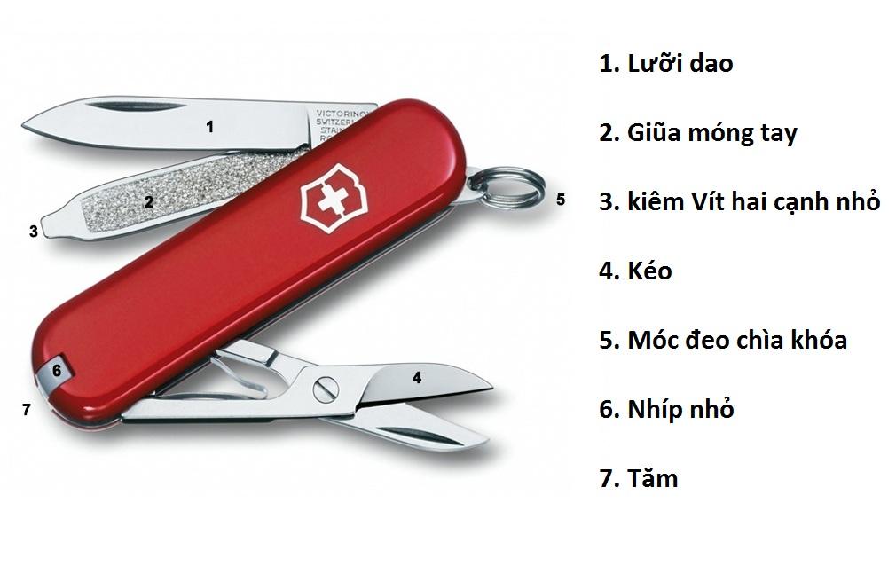 Dao đa năng Victorinox classic red