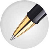 bút bi Waterman Hemisphere Rollerball Pen, Matte Black with Gold Trim