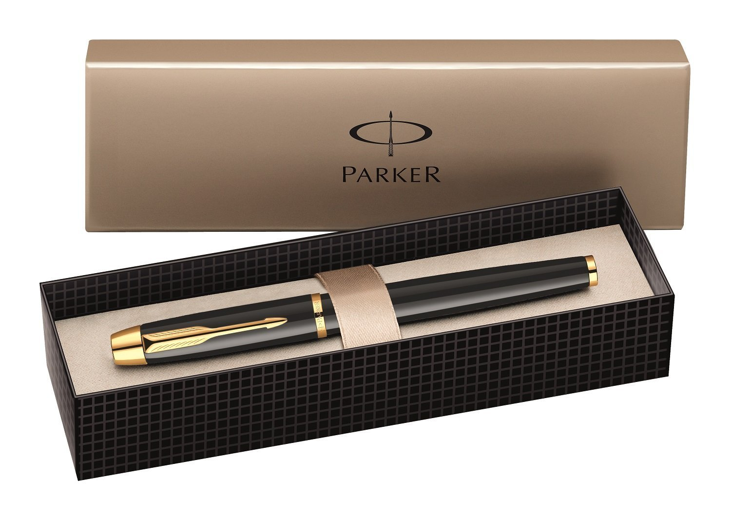 Bút Máy Parker IM Fountain Pen Black Lacquer with Gold Plated Trim  - Ngòi M - S0856280