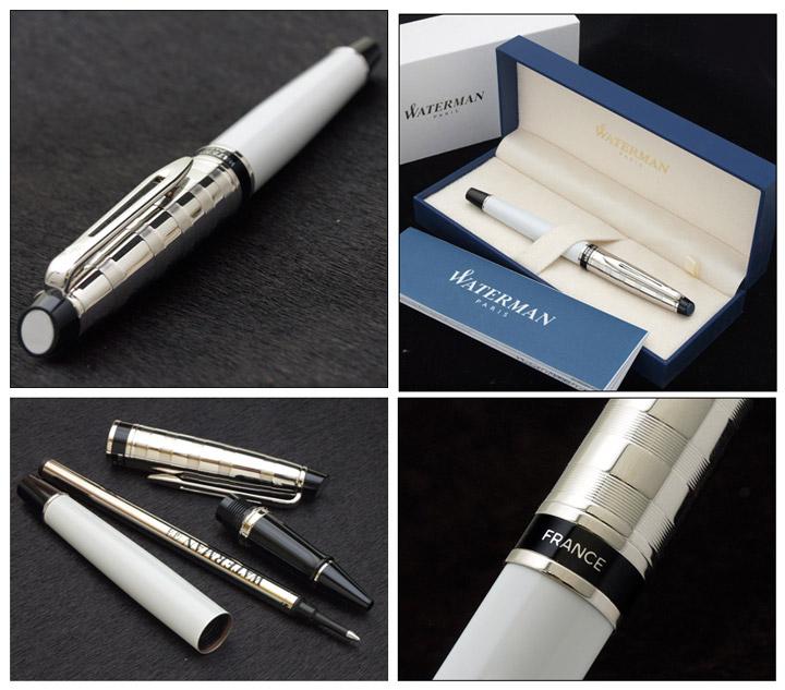 Waterman EXPERT Deluxe White Ballpoint Pen CT