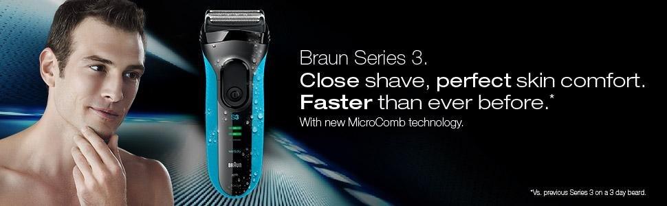 Làm sạch râu với máy cạo râu Braun