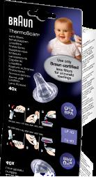 Đầu bọc mũi đo nhiệt kế đo tai Braun an toàn cho bé