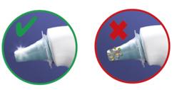 Cách dùng đầu bọc mũi đo nhiệt kế Braun
