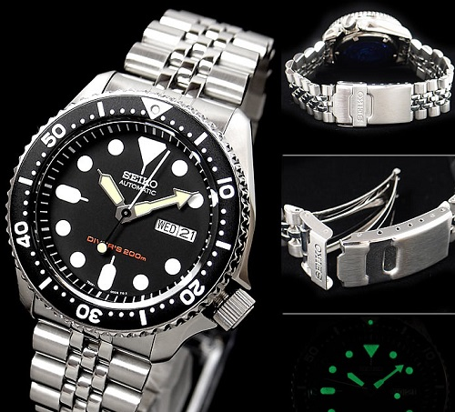 Đồng hồ Seiko SKX007KD thiết kế thanh lịch, nam tính