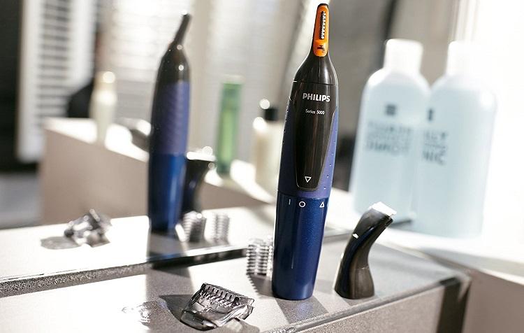 Máy cắt tỉa lông mũi, lông tai, lông mày Philips NT3160/10 tiện dụng