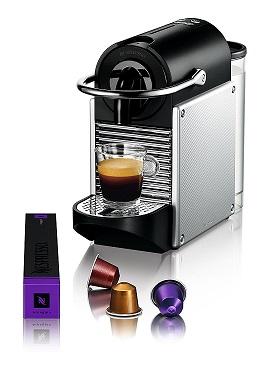 Máy pha cà phê Nespresso Pixie Silver Electric Aluminium nhỏ gọn