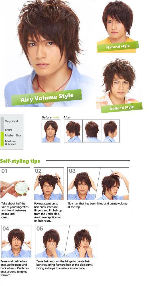 Tạo kiểu tóc với sáp vuốt tóc Gatsby Nhật bản Air Rise