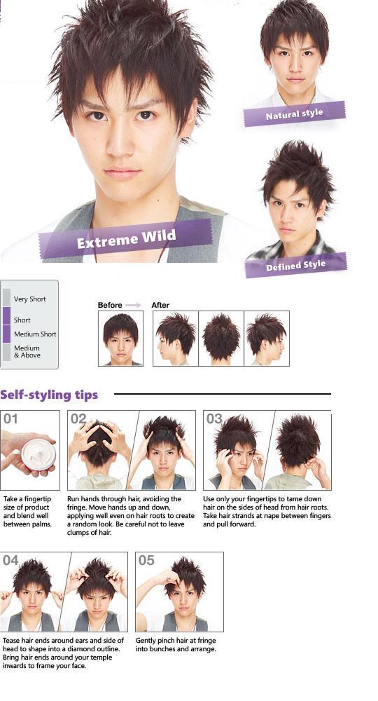 Cách dùng sáp vuốt tóc Gatsby Nhật bản Wild Messy