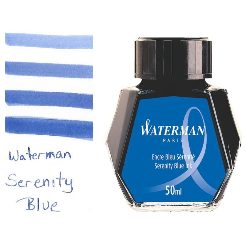 Mực Waterman - 50ml - Màu xanh serenity blue - S0110720