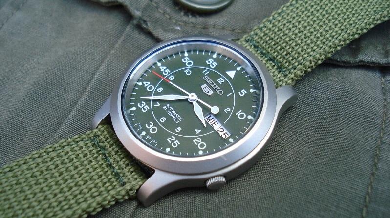 Đồng hồ Seiko SNK805 (SNK805K2) phong cách quân đội