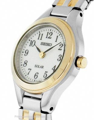 Đồng hồ Seiko Women's SUP100 Solar Expansion Two-Tone Stainless Steel Classic