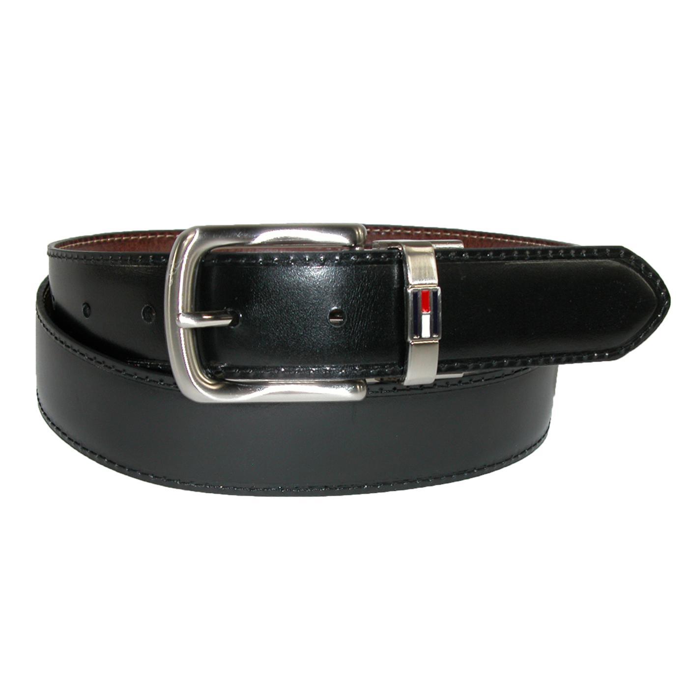 Thắt lưng nam Tommy Hilfiger Men Leather Reversible mặt màu đen