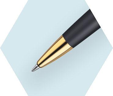 Ngòi bút được chế tác tinh xảo