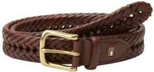 Dây nịt nam Tommy Hilfiger Men Braided Belt - Size 34 - Màu nâu