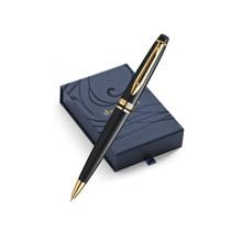 Bút bi Waterman Expert Ballpoint Pen Black Gold - Ngòi M - Mực xanh - S0951700