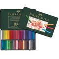 Bộ phấn màu Faber Castell 128560 - Pastel crayon Polychromos tin of 60 - 60 màu - Hộp thiếc