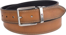 Thắt lưng Tommy Hilfiger Reversible Leather Belt - Casual for Mens Jeans with Double Sided Strap and Silver Buckle - Size 34 - 11TL01X047