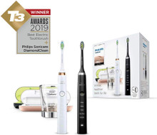 Bộ 2 bàn chải điện philips Sonicare DiamondClean Black and White HX9392 / 39