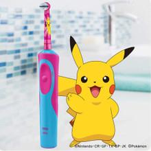 Bàn chải đánh răng điện trẻ em Oral-B Electric Toothbrush Featuring Pikachu Characters (Màu hồng)