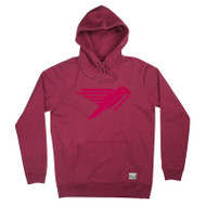 Silverstick Men's Hoodie Ellerton Original Bird Logo Design in Beaujolais.