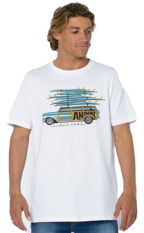 Animal Mens T Shirt Loadup Design in White.