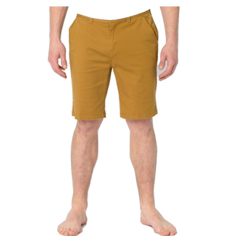 Animal Mens Shorts Alisos Design in Sand. Front view.