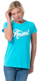 Animal Womens T-Shirt Ashtee Design in Ocean Marl.