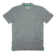 Silverstick Mens Polo Shirt Columbus Design in Ash Marl.