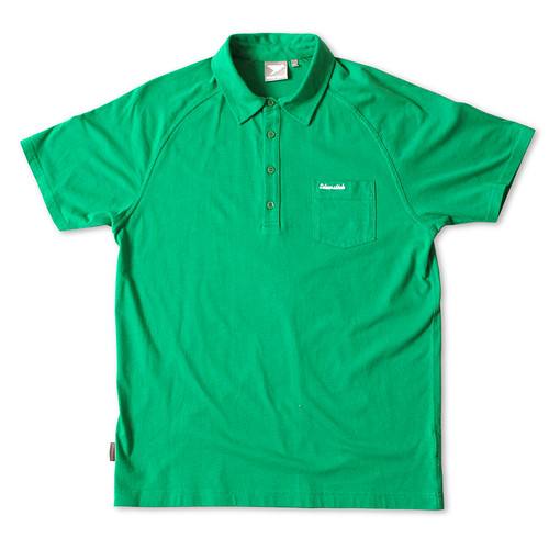 Silverstick Mens Polo Shirt Lopez Design in Forest Green..  Front view.