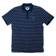 Silverstick Mens Polo Shirt Minnaar Design in Navy Blue.
