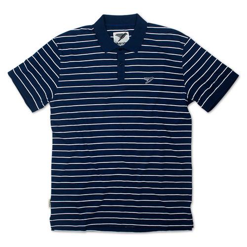 Silverstick Mens Polo Shirt Minnaar Design in Navy Blue.