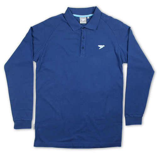 Silverstick Mens Polo Shirt Greenwood Design in Deep Sea.
