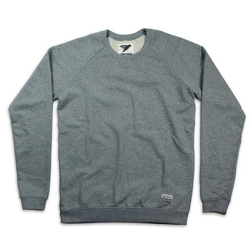 Silverstick Mens Sweat Shirt Nias Design in Ash Marl.