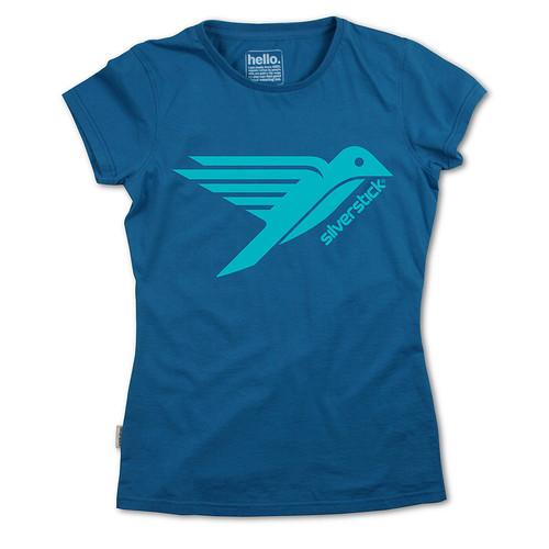 Silverstick Womens Top Bird Design in Celestial.