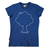 Silverstick Womens T-Shirt Tree Design in Deep Sea.