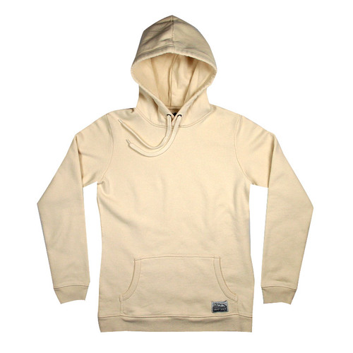 Silverstick Womens Hoodie Lancelin Design in Natural.  Front view.