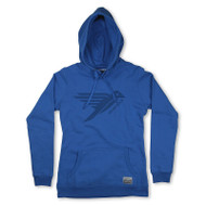 Silverstick Womens Hoodie Lancelin Bird Design in Atlantic Blue.  Front view.
