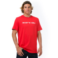 Animal Mens T-Shirt Lanes Design in Lava Red.
