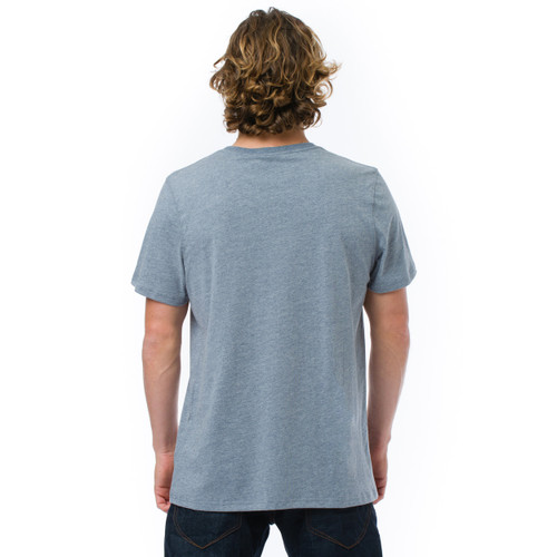 Animal Mens T Shirt Loes Design in Indigo Marl.