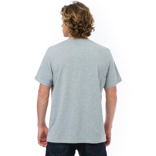 Animal Mens T Shirt Lahas Design in Grey Marl.  Back view.