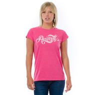Animal Womens Top Aleisha Design in Rose Marl. Front view.