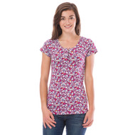 Animal Womens Top Alisia Design in Plum. Front view.