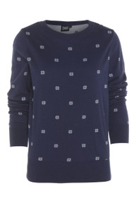 Animal Womens Jumper Eleka Design in Navy Blue. Front view.