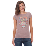 Animal Womens Top Amarra Design in Coffee Marl. Front view.