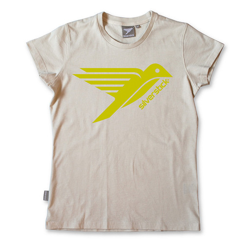 Silverstick Womens Top Bird Design in Stone.