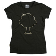 Silverstick Womens Top Tree Design in Olive.