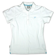 Silverstick Womens Polo Shirt Earhart Design in Snow White.