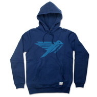 Silverstick Men's Hoodie Ellerton Bird Design in Navy Blue.