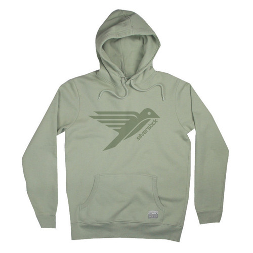 Silverstick Men's Hoodie Ellerton Bird Design in Tea.