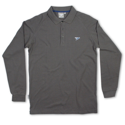 Silverstick Mens Polo Shirt Greenwood Design in Slate Grey.
